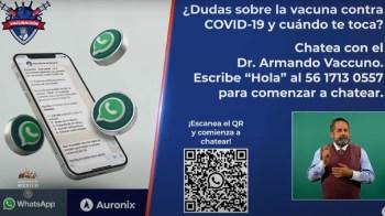 Dr. Armando Vaccuno, asistente virtual que te resuelve las dudas sobre la vacunación anticovid