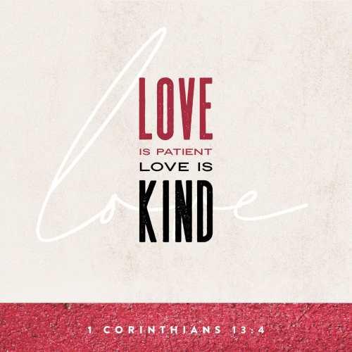 Verse Image for 1 Corinthians 13:4
