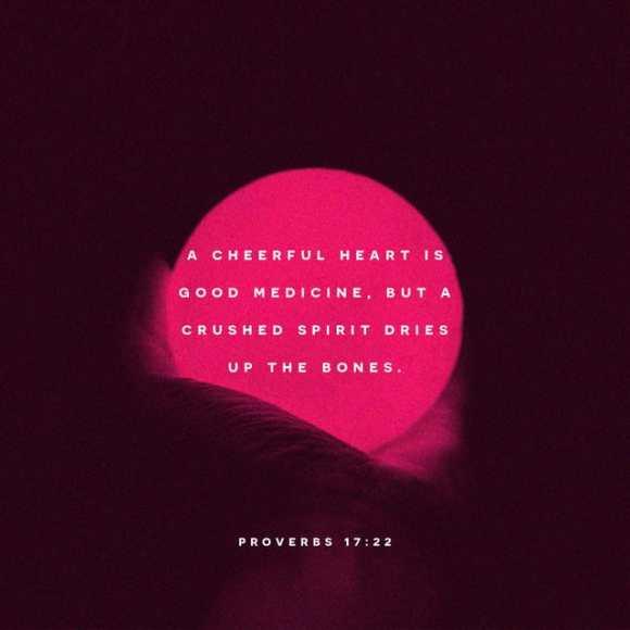 Proverbs 17:22 NIV