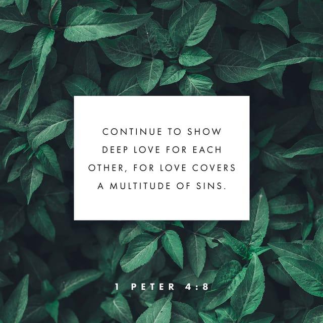 1 Peter 4:8 NLT