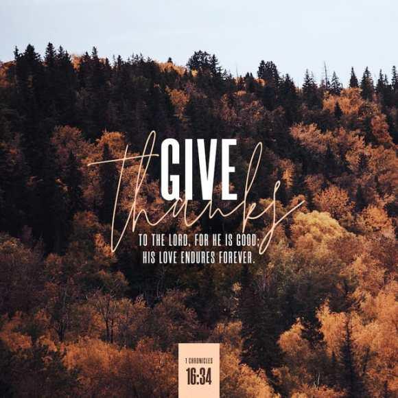 1 Chronicles 16:34 NIV