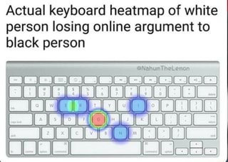 actual keyboard heatmap of