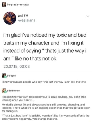 I'm glad i've noticed my toxic and bad traits in my character- toxic traits to get rid of in 2020 - being a better person | soyvigo.com