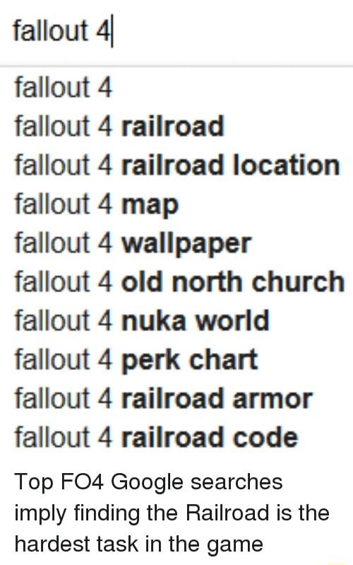 So I found The Railroad...[SPOILERS] : Fallout