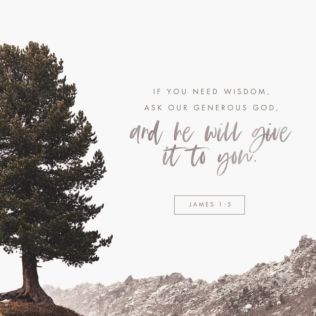 James 1:5 - https://www.bibl...