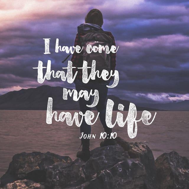 John 10:10 - https://www.bibl...