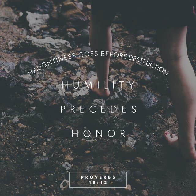 Proverbs 18:12 - https://www.bibl...