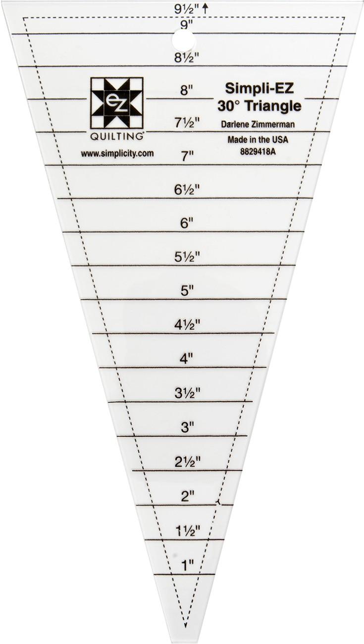 Simpli-EZ 30 degree Triangle 9-1/2in Ruler By Zimmerman