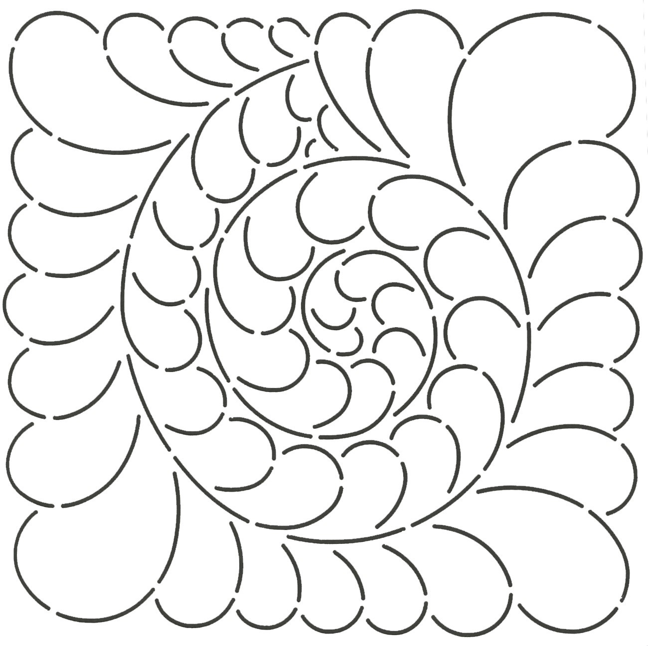 Quilt Stencil Feather Swirl 9in By Patten, Sue