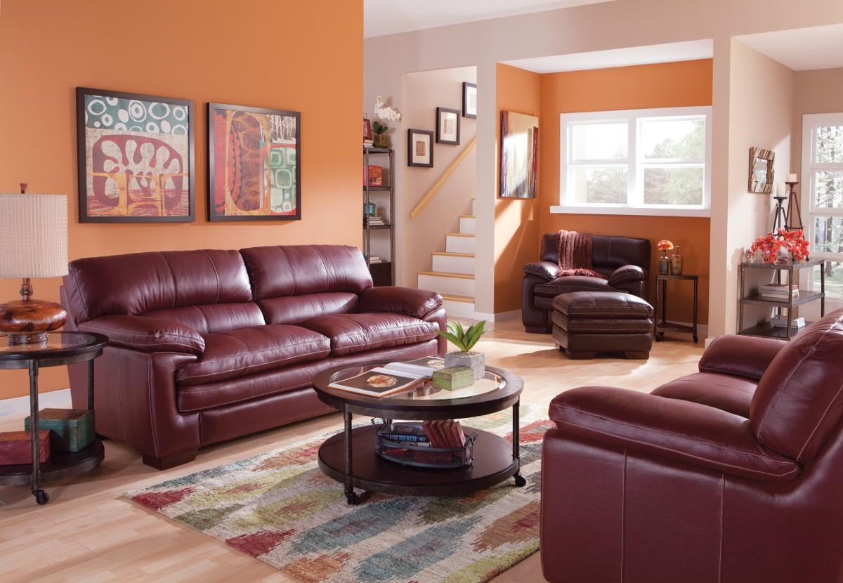 lazy boy leather living room furniture indian small decorating ideas la z dexter stationary group jordan s home
