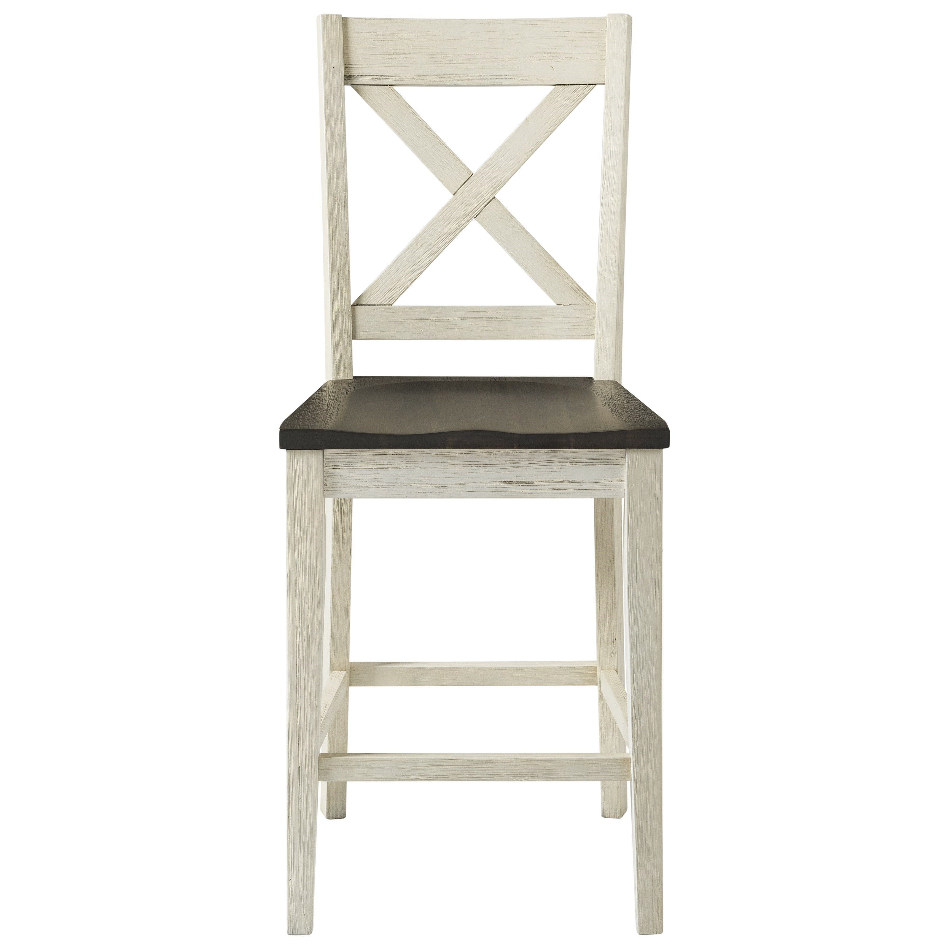Wood Bar Chairs Huron Transitional Solid Wood Bar Stool With X Back Design By Aamerica At Wayside Furniture