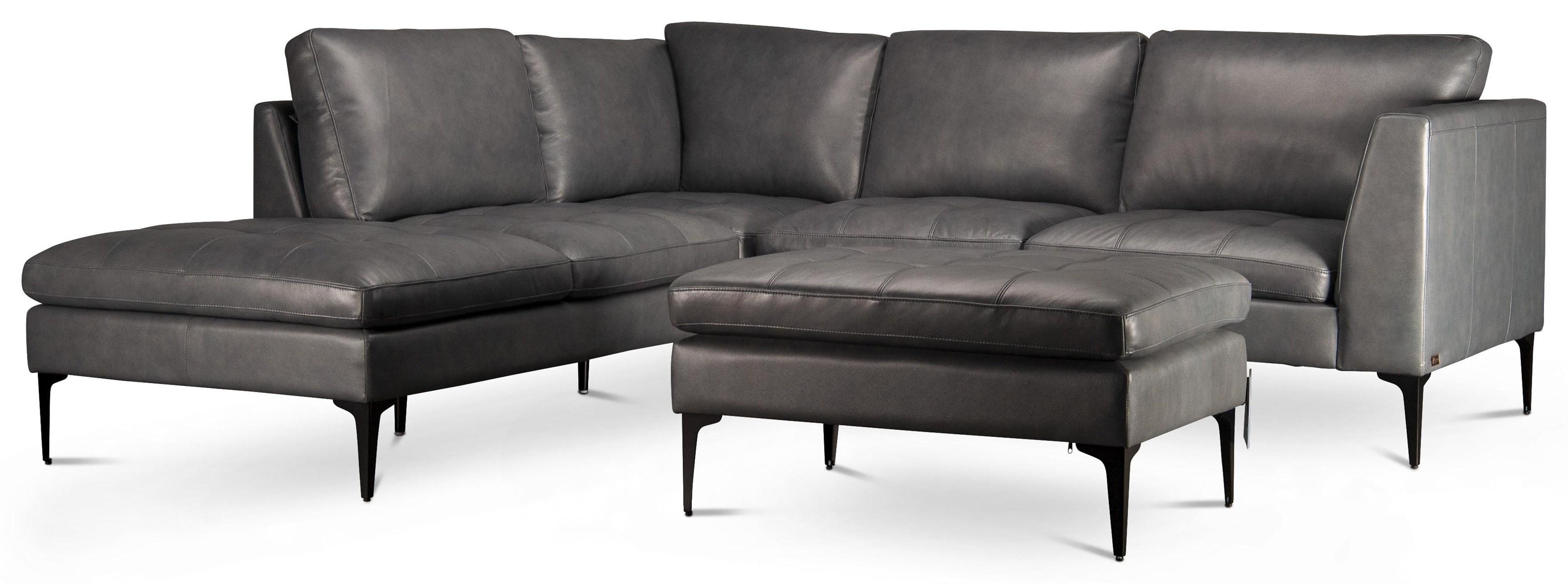 kael kael top grain leather sectional