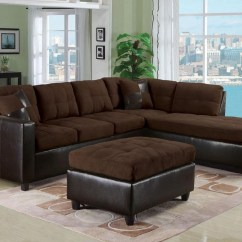 Acme Sectional Sofa Chocolate Wicker Furniture Milano Contemporary Two Piece With Laf Chaise
