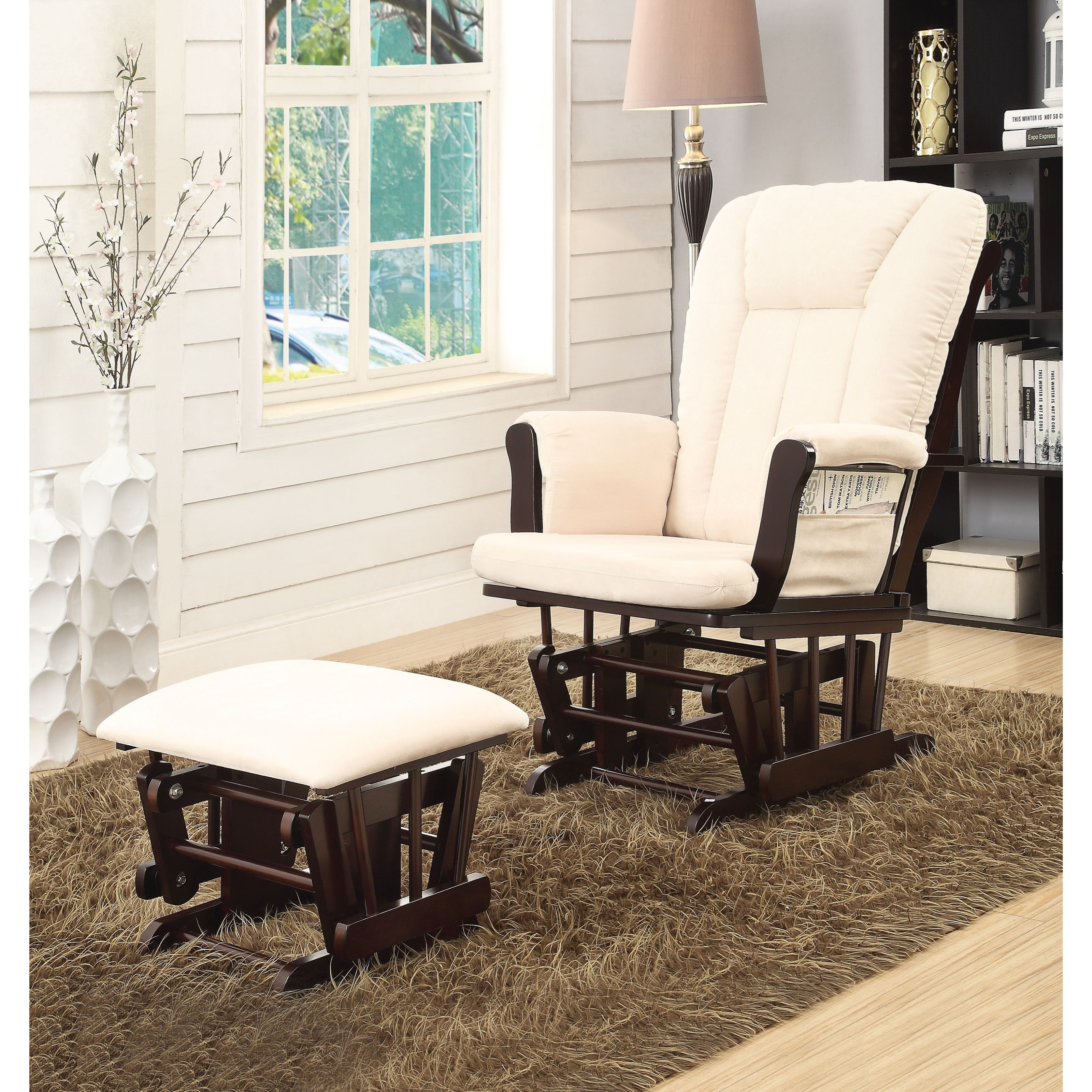 microfiber club chair with ottoman graco contempo high reviews acme furniture paola glider dream 2pcpk and