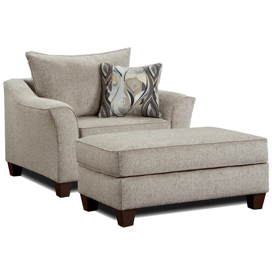 Oversized Chair And Ottoman Set Chair And A Half With Ottoman 7700 By Affordable Furniture