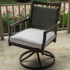 Swivel Rocker Outdoor Dining Chairs Gray Accent Chair Agio Maddox Woven With Track Arms By
