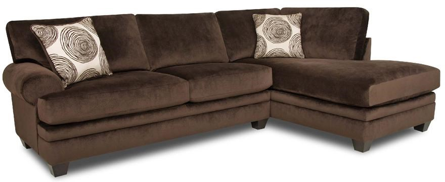 Albany 8642 Transitional Sectional Sofa With Chaise Furniture