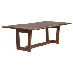 Sofa Mart Dining Tables How To Repair A Rip In My Leather Alder Tweed Aspen Trestle Table With Live Wood Edge By