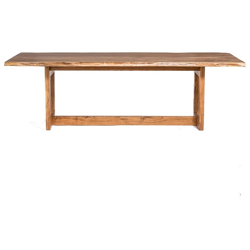 sofa mart dining tables cleaning fabric alder tweed aspen 897 trestle table with live wood edge by