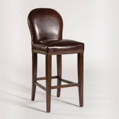 Counter Height Chairs With Back Bath For Disabled Belfort Leather Claremont Stool And Seat