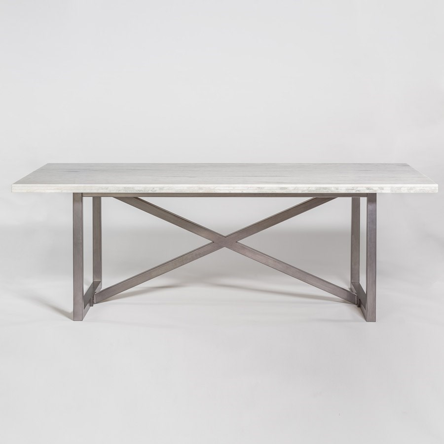 sofa mart dining tables chaise perth alder tweed menlo park 88 marble and metal table by