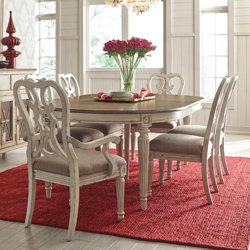 American Drew SOUTHBURY 7 Piece Table Amp Chair Set Northeast Factory Direct Dining 7 Or More