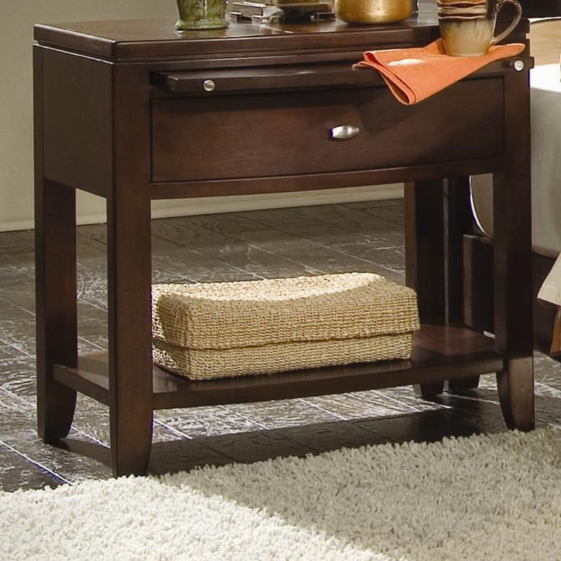 american drew tribecca sofa table buchannan microfiber brown leg nightstand with pullout tray lindy s