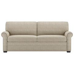 Width Of A Sofa Bed Dwr Theatre Used American Leather Gaines Two Seat Queen Size Sleeper