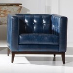 American Leather Luxe Mid Century Modern 32 Chair With