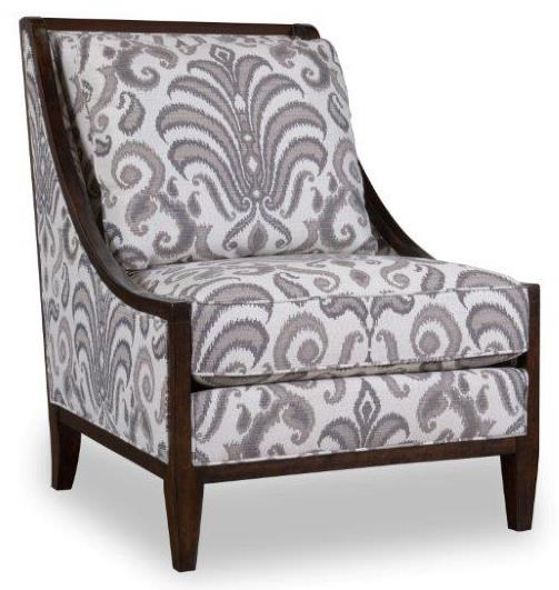 accent chairs with arms leigh upholstered slipper chair a r t furniture inc morgan wood frame swoop by