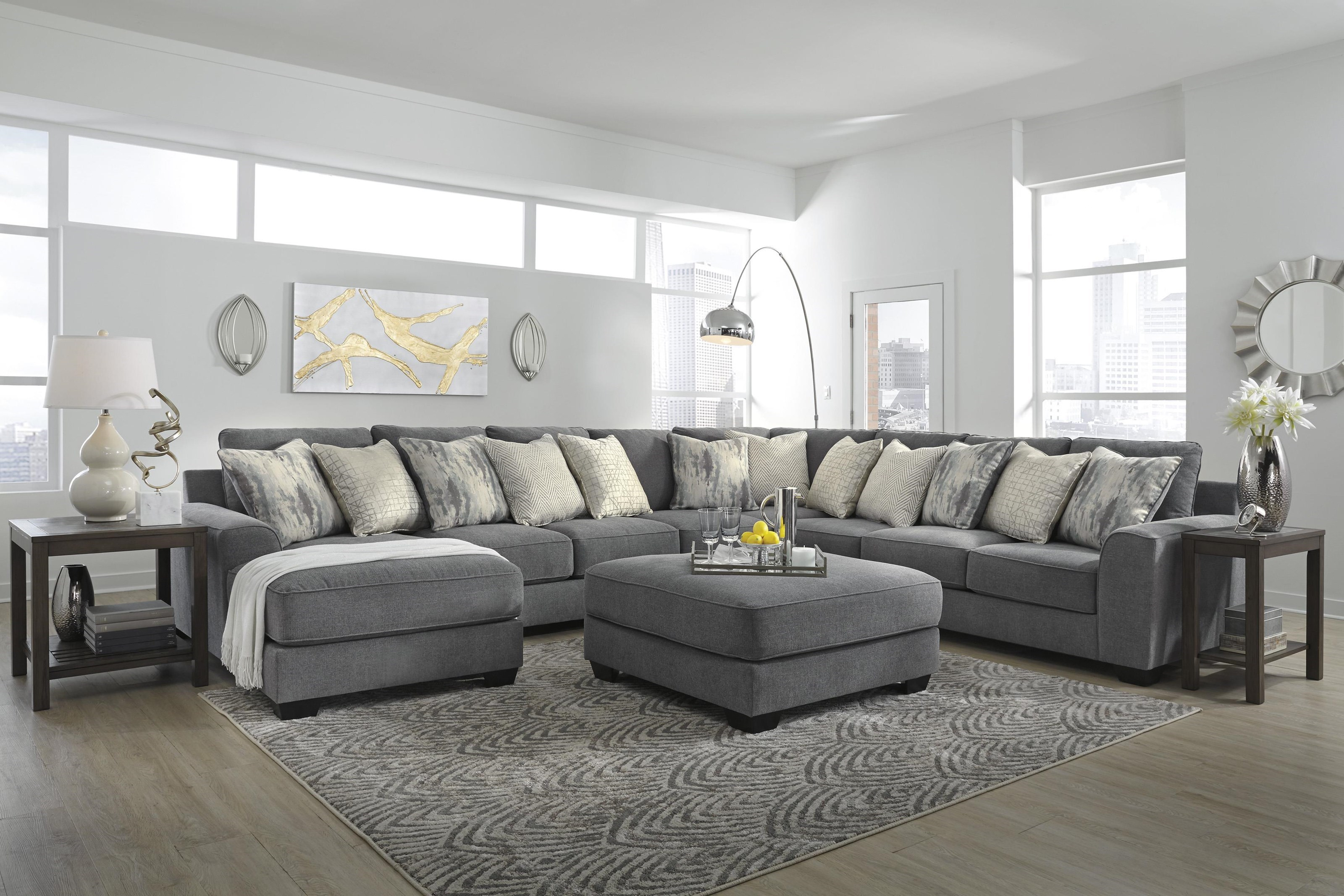 castano 5 piece sectional with ottoman