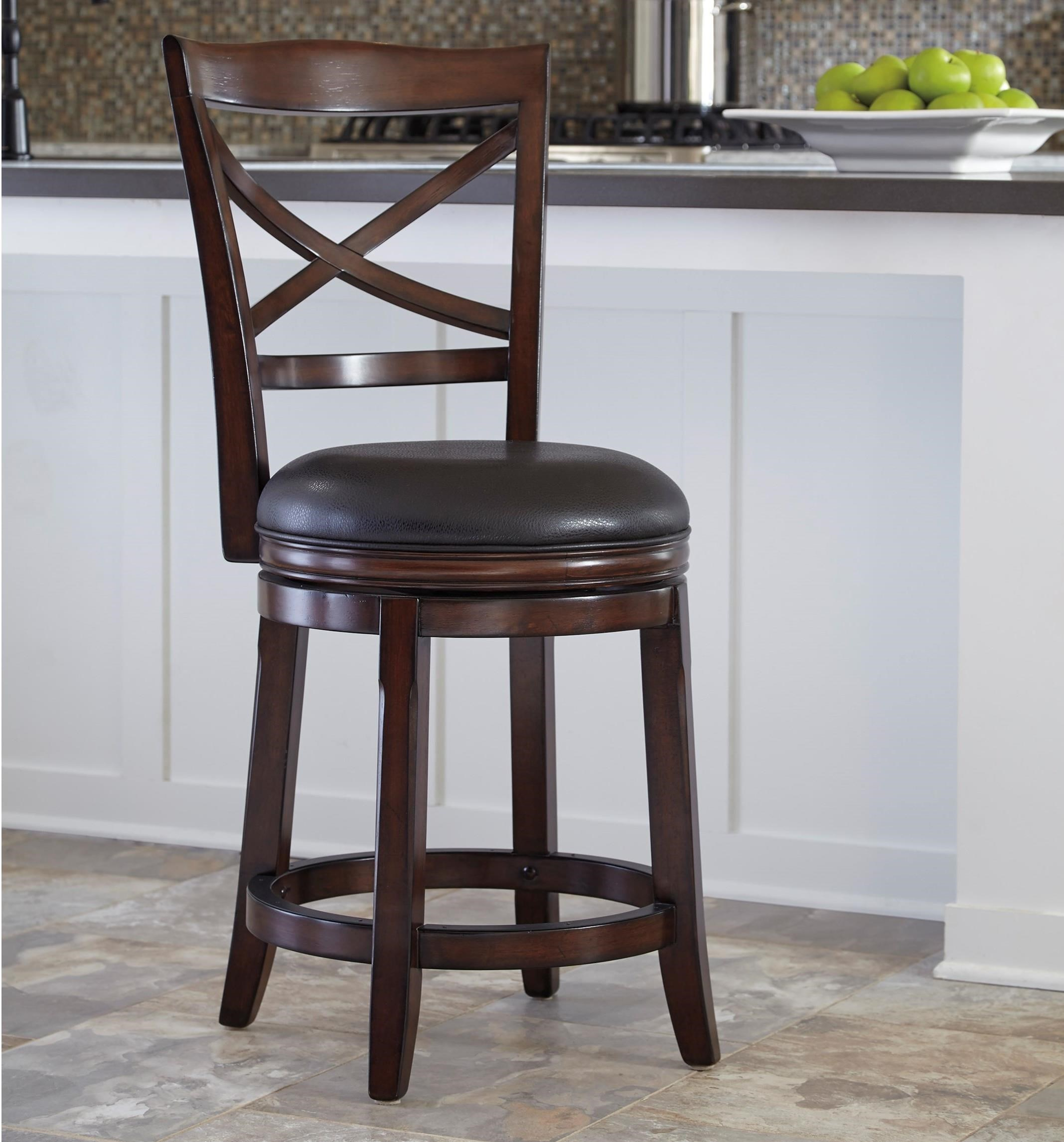counter height bar chairs office chair staples canada millennium porter x back upholstered swivel barstool