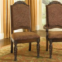 Old World Dining Side Chairs with Elegant Back Crown ...