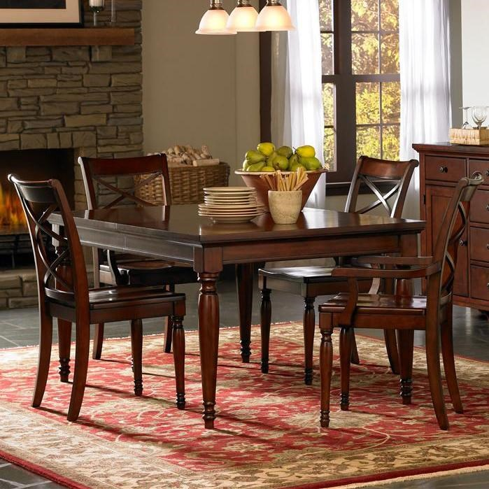 Dining Room Chair Sets Cambridge Rectangular Leg Dining Table Chair Set By Aspenhome At Stoney Creek Furniture