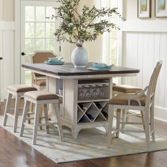 Kitchen Island Sets White Cabinets Avalon Furniture Mystic Cay 7 Piece Table Set Zak S Fine Pub And Stool