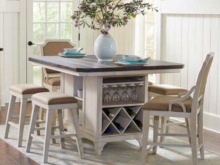 avalon furniture mystic cay 7-piece kitchen island table set   zak's