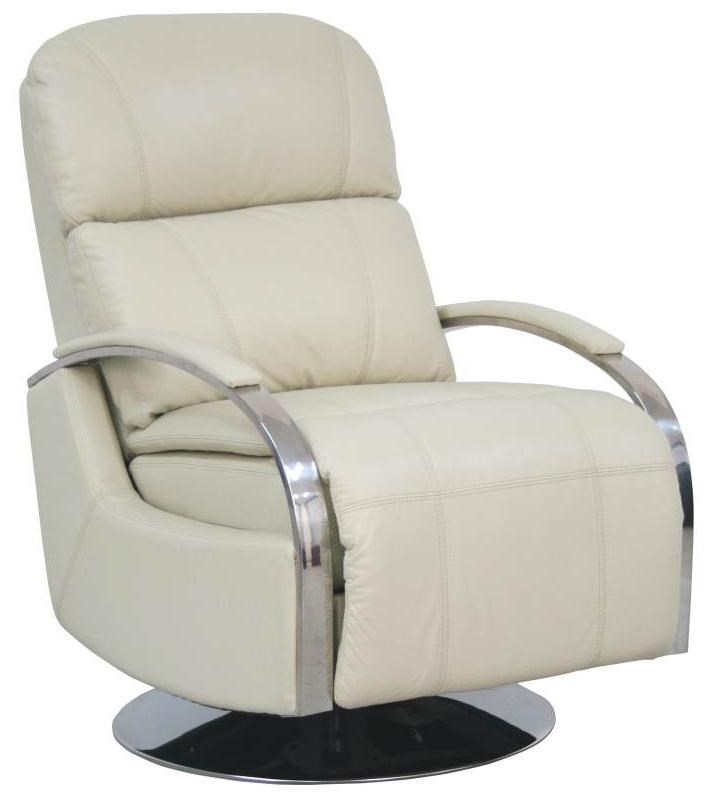 swivel chair regal how to make a rocking barcalounger metro living ii recliner with chrome arms and chaise footrest by