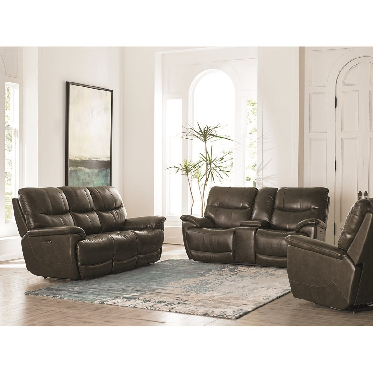 Bassett Brookville 3713 P62t Casual Power Reclining Sofa With Power Headrests And Usb Port Dean Bosler S Reclining Sofas