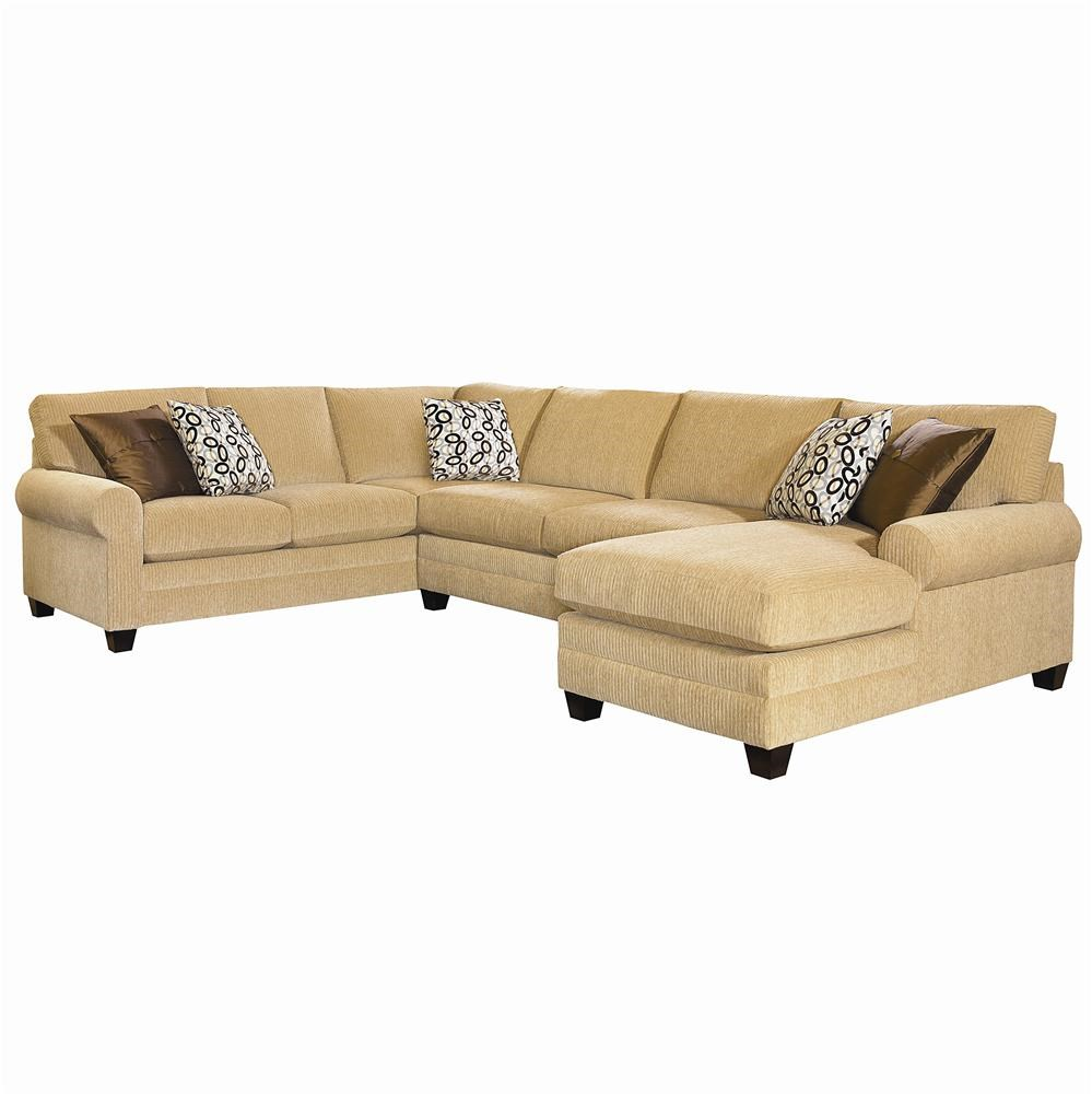 Bassett Cu 2 U Shaped Stationary Sectional Group Dean