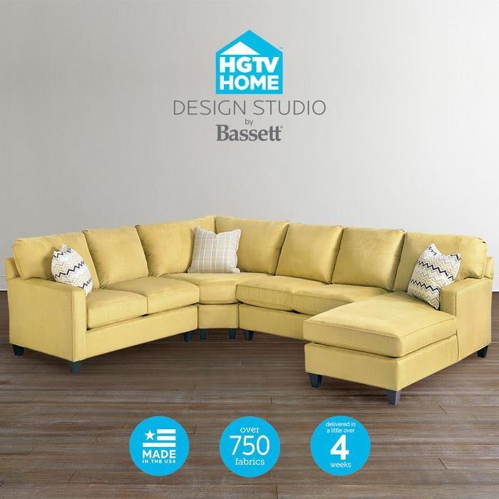 Bassett HGTV Home Design Studio Customizable U Shaped Sectional