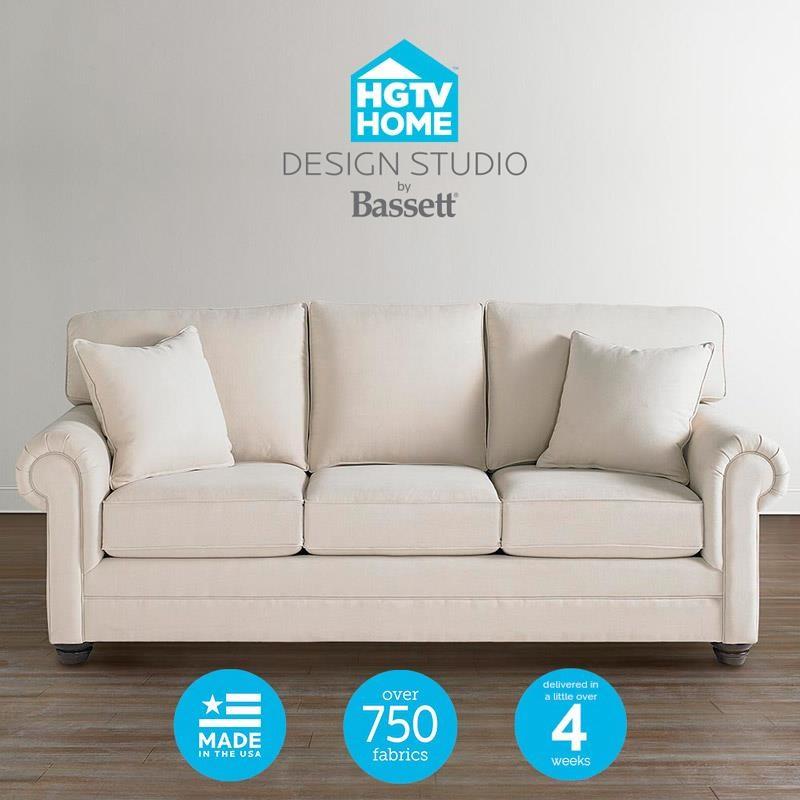 Bassett HGTV Home Design Studio Customizable Queen Sofa Sleeper