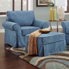 Slipcovered Living Room Chairs Steel Chair Rubwood Bauhaus Ava Ottoman With Slipcovers Colder S Furniture And By