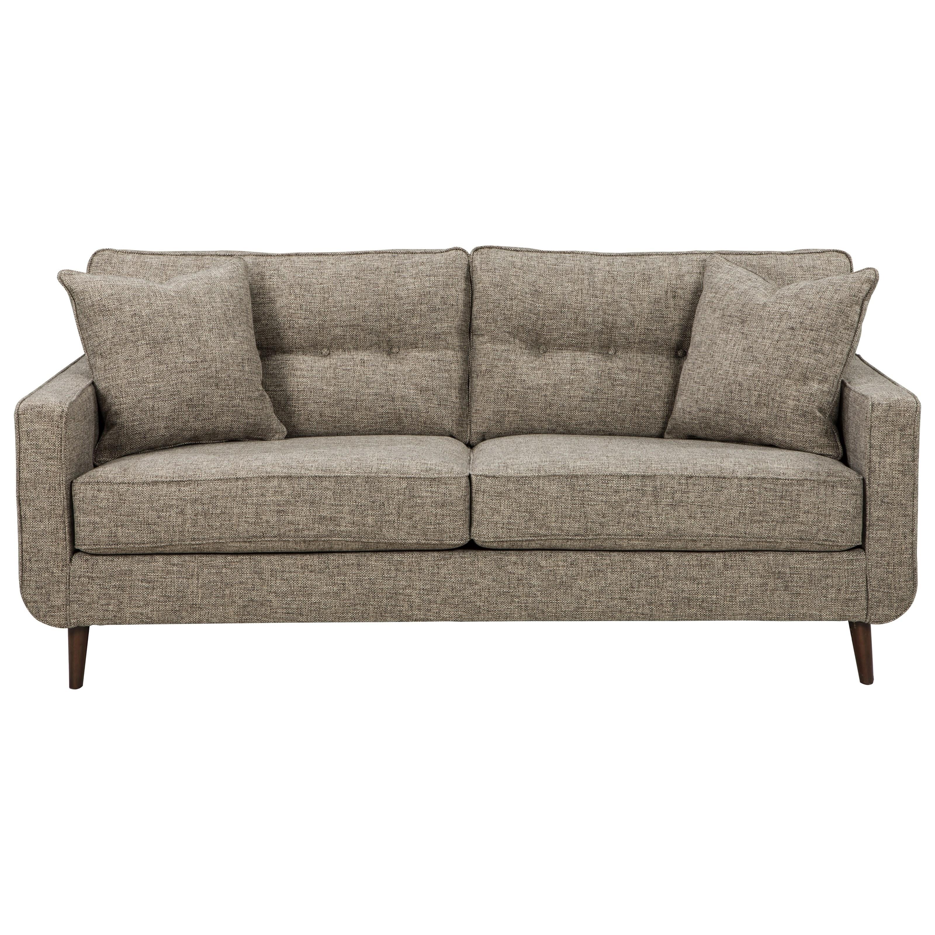 Benchcraft Della Mid Century Modern Sofa Walker S Furniture Sofas