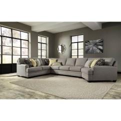 Armless Sofas Cane Back Sofa Craigslist Benchcraft Cresson Contemporary 4 Piece Sectional W Cuddler Dunk Bright Furniture