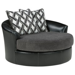 Oversized Upholstered Chair Used High Benchcraft Kumasi 3220221 Contemporary Fabric Faux Leather Swivel Accent Dunk Bright Furniture