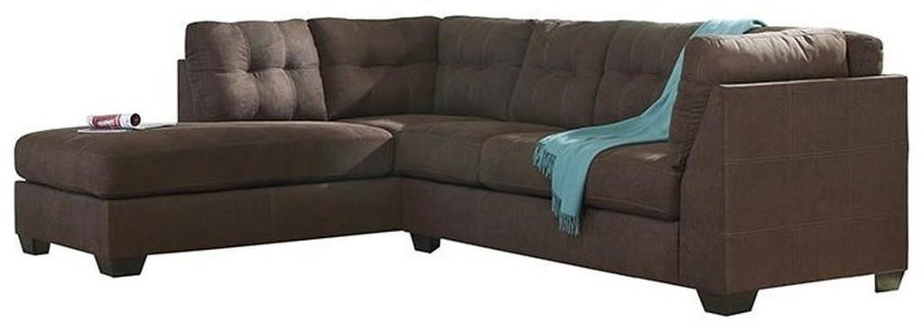 maier walnut 2 piece sectional with left chaise