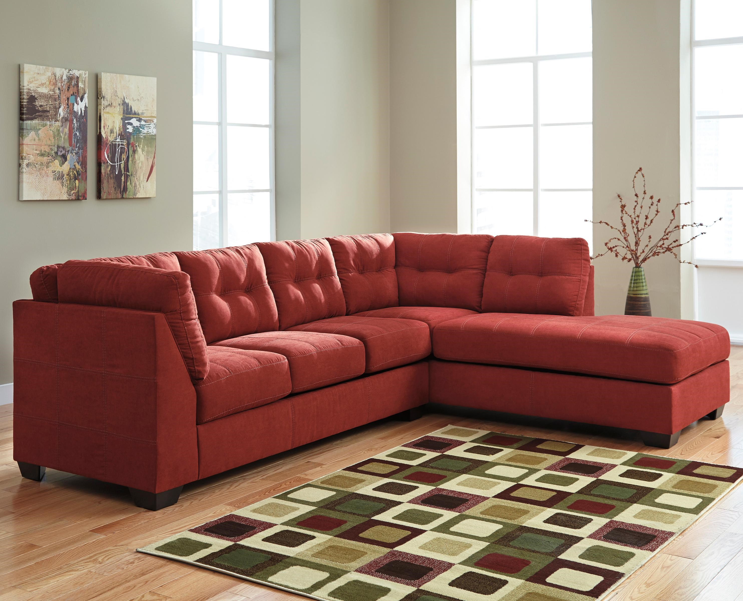 sienna sofa repair recliner benchcraft maier 2 piece sectional w sleeper right chaise by