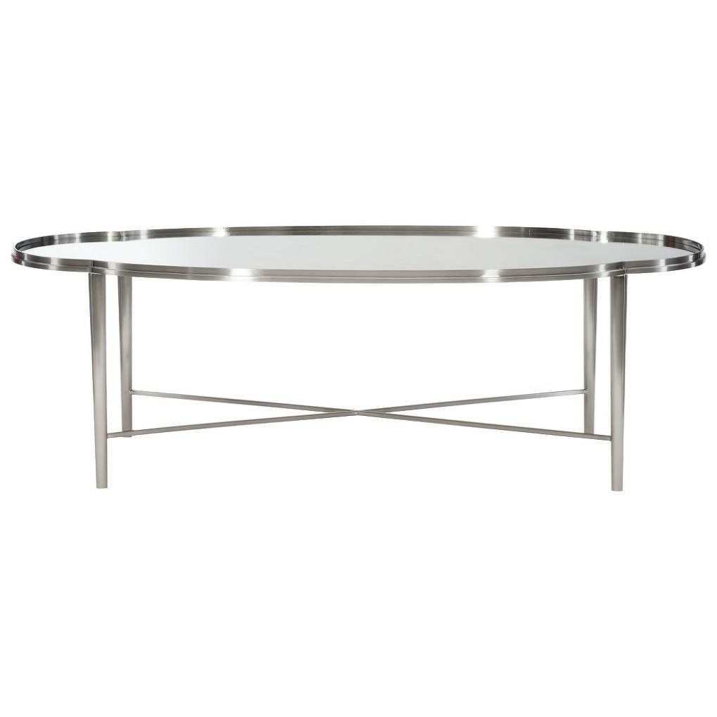 transitional metal oval cocktail table
