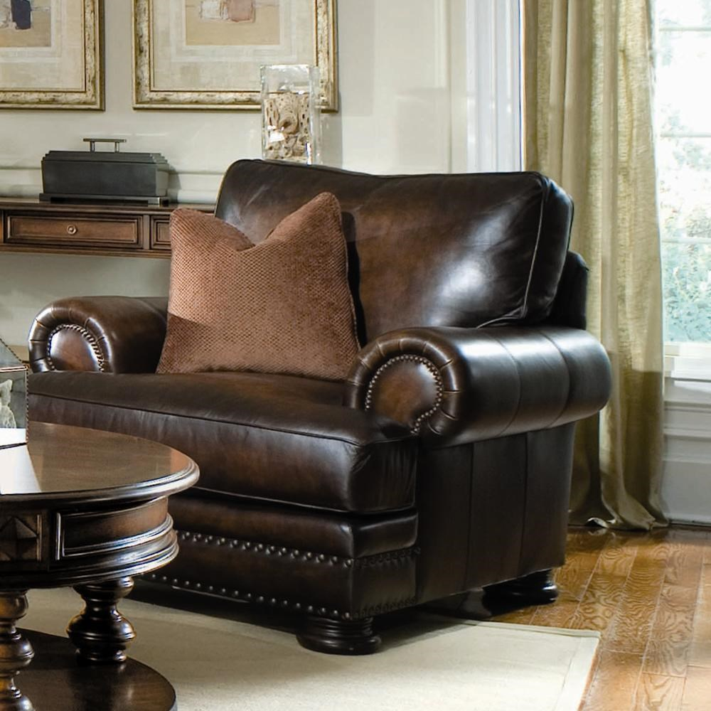Upholstered Living Room Chairs Bernhardt Foster Upholstered Living Room Chair With Nailhead