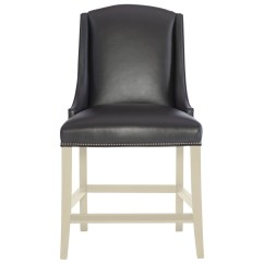 Counter Height Arm Chairs Two Person Chair Carry Bernhardt Interiors Slope Leather Stool With Low Track Arms